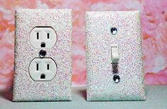 FROZEN GIRL'S BEDROOM DÉCOR: ***************************************************************************************************** SET OF CHUNKY WHITE SNOW FROZEN Glitter Switch Plate & Outlet Cover, SET 0F 2! ALL Styles Available! ***************************************************************************************************** Perfect for your new FROZEN Room, FROZEN DECOR, FROZEN TEEN ROOM, FROZEN GIRL'S ROOM, FROZEN BEDROOM, FROZEN BATHROOM, BEACH HOUSE,