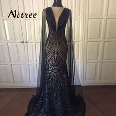 2018 Black Sequins Muslim Mermaid Evening Dresses African Dubai Turkish  Formal Prom Gowns For Women Arabic Aibye Abendkleider-in Evening Dresses  from ... 1157ebb7419c