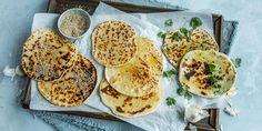 Flate nanbrød med 3 deilige toppinger   Coop Mega Food And Drink, Baking, Ethnic Recipes, Sweet, Yummy Yummy, Candy, Bakken, Backen, Sweets