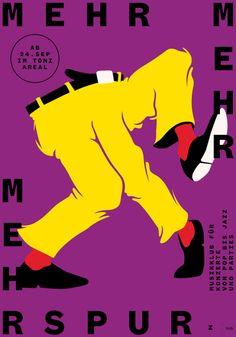 Mehrspur Posters / affiches by Dernier étage (Adrien Moreillon + Benjamin Burger) Switzerland, Zurich Graphic Design Posters, Graphic Design Illustration, Typography Design, Illustration Art, Inspiration Artistique, Plakat Design, Arte Cyberpunk, Poster Design Inspiration, Jazz Festival