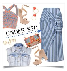 """""""Skirt Under $50"""" by judysingley-polyvore ❤ liked on Polyvore featuring Topshop, Stuart Weitzman, BCBGMAXAZRIA, Valentino, Kate Spade, under50 and skirtunder50"""