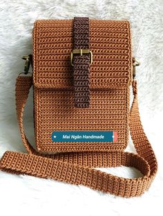 65 trendy sewing backpack leather michael kors – Top Of The World Crochet Backpack, Crochet Clutch, Crochet Handbags, Crochet Purses, Wallet Sewing Pattern, Crochet Purse Patterns, Sewing Patterns, Crotchet Bags, Knitted Bags