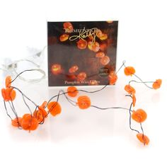 Halloween Pumpkin Wire Lights 20 Decorative Lights Height: 42 Inches Material: Plastic Type: Decorative Lights Brand: Halloween Item Number: Halloween 29309 Catalog ID: 27003 New In Box. Indoor Use On