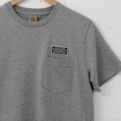Carhartt Manufacturer T-Shirt (Grey) – New-Entry Clothing #carhartt #tshirt #pocket #menswear