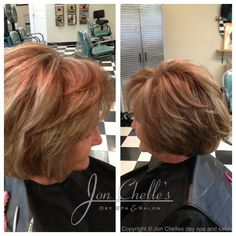 Short layered bob by Julia Winstead. Layered Bob Hairstyles, Mom Hairstyles, Layered Bob Short, Aveda Color, Spa Day, Cut And Color, Beauty Hacks, Beauty Tips, Different Styles