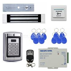 (84.22$)  Watch here  - DIYSECUR Remote Control Magnetic Lock 125KHz RFID Reader Password Metal Keypad Access Control System Security Kit BC2000