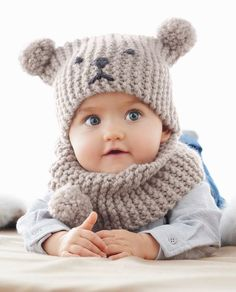 Knit Baby Sweaters Baby Hats Knitting Knitting For Kids Loom Knitting Knitted Hats Crochet Baby Hats Knitting Projects Knit Crochet Snood Bebe Baby Hat Knitting Pattern, Baby Hats Knitting, Crochet Baby Hats, Free Knitting, Free Crochet, Knitted Hats, Snood Pattern, Knit For Baby, Crochet Afghans