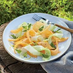 Shaved Melon Salad with Lemon-Sherry Dressing | CookingLight.com