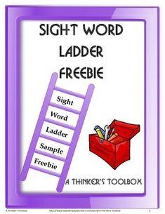 Sight Word Ladder Sample FREEBIE by A Thinker's Toolbox #printable #worksheet #languagearts