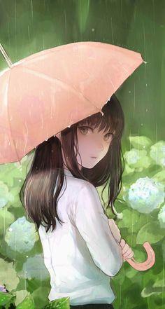 Rain and anime girl ☔️