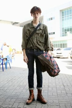 koreanmodel:  Streetstyle: Kim Wonjung