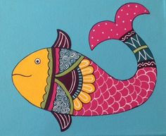 Original Acrylic 8 X 10 Fish painting by Myartismysoul on Etsy, $45.00