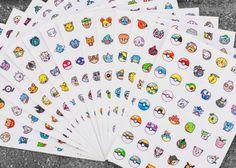 Pokemon Go Stickers Decal Set, 760 Pokemon Characters, Pokemon Go Characters Sticker, Pokemons and Pokeballs, Pokemon Kids Gift, Gamer Gifts