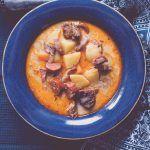 Ciorbă+de+cartofi+cu+afumătură