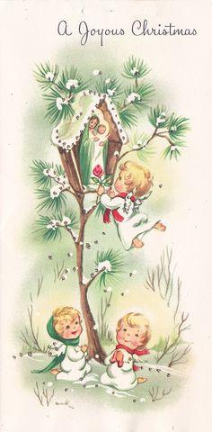 https://flic.kr/p/ax7aBN | Vintage Greeting Card - Christmas