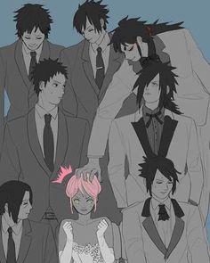Uchiha pink hair. Hah, I would do the same thing.