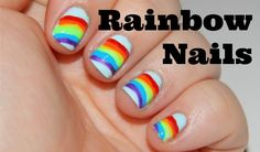 How to Paint Rainbow Nails. Perfect for St. Patrick's Day!
