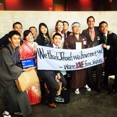 Japanese delegates sharing a sweet message after the Atlanta International Convention