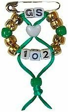 Idea: Girl Scout Anniversary SWAP Kit || Use SUE for 102 and 60 for GS. Can buy specific letters.