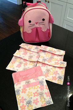 Simple Dimples: Reusable Fabric Snack Bags