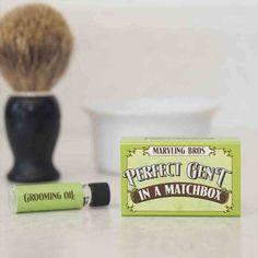 men's grooming kit in a matchbox by marvling bros ltd. | notonthehighstreet.com