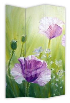 Folding Screen POPPIES PAINTING by Sticky!!!