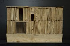click picture for Maquette Architecture, Wooden Architecture, Crooked House, Arch Model, Assemblage Art, Miniature Houses, Minimalist Art, Wood Sculpture, Little Houses