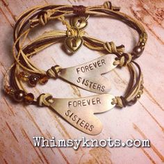 'Soul Sisters' Personalized Stamped Bracelet - Handmade Jewellery by on Gifts For Your Bestfriend, Gifts For Your Sister, Best Friend Gifts, Gifts For Friends, Jewelry Crafts, Jewelry Ideas, Jewelry Box, Jewelry Design, Sister Bracelet