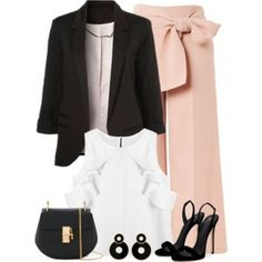 A fashion look from July 2017 by majezy featuring WithChic, Topshop, Giuseppe Zanotti and Chloé Pink Outfits, Cute Outfits, Fashion Outfits, Fashion Sets, Modest Outfits, Fashion Line, Fashion Looks, Women's Fashion, Rehearsal Dinner Outfits