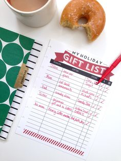 'Holiday GIFT LIST' free printables for The Happy Planner™ | me & my BIG ideas Printable Planner, Planner Stickers, Free Printables, Christmas Planner Free, Happy June, Calendar Pages, Gift List, Happy Planner, Holiday Gifts