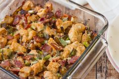 Make and share this Loaded Baked Potato & Chicken Casserole recipe from Genius Kitchen.