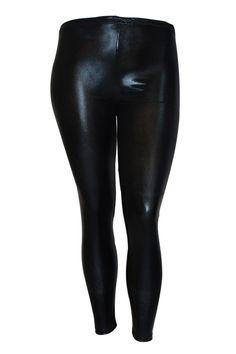 d3ca83df900 Womens Leggings Plus Size Ladies Latex Wet Look PVC Pants Nouvelle  NOUVELLE