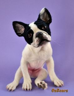 Frankie The Frenchie - Needle Felted French Bulldog by OzBears OOAK Teddy Bear | Dolls & Bears, Bears, Artist | eBay!