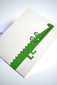 crocodile card | lisa jones studio