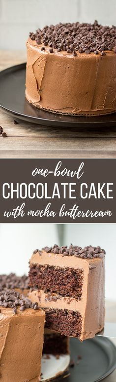 One-bowl mini chocolate cake with mocha buttercream - A sweet, tiny dessert, mixed by hand in one bowl, perfect for chocolate lovers! Sweet Desserts, Easy Desserts, Delicious Desserts, Yummy Food, Mini Chocolate Cake, Chocolate Lovers, Chocolate Icing, Chocolate Cream, Mini Cakes