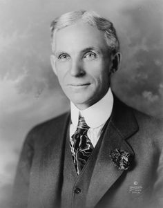 Henry Ford- This guy thought it would be nice if his factory employees could afford the cars they were making.