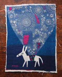 刺繍作家、刺繍イラストレーター、MICAO Embroidery artist/illustrator MICAO | SHOP