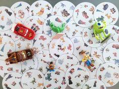 Quel enfant ne connait pas les personnages Disney ? Pour amuser les miens, j'ai crée le jeu des Doubles à l'effigie des personnages Disney.