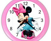 New wall decor minnie mouse wall clock for girls bedroom