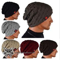 Unisex Invierno el cráneo Tibio Teje Beanie la gorra Dual Wearable Mujeres  de Hombres que Montan 73525117b56