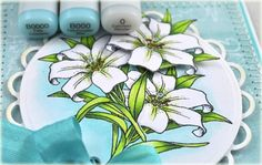 Step 3 Copic Coloring tutorial for JustRite Easter Blessings colored by Debbie Olson