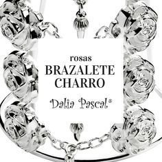 Brazalete Rosas Charras, inspiradas en los accesorios que decoran el traje de etiqueta del Charro Mexicano