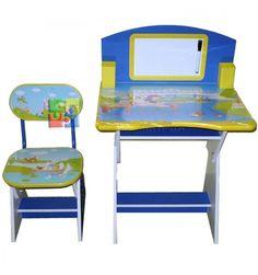 birou copii cu scaunel reglabile hc86n babyland