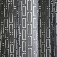 Mid-Century Bracket Geo Shower Curtain - Feather Gray | west elm