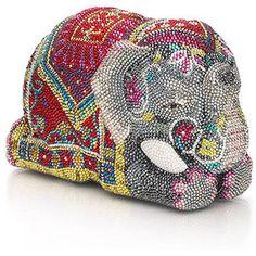 Judith Leiber Crystal Asian Elephant Handbag