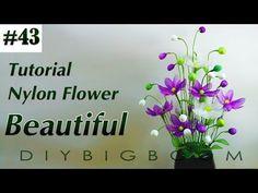 Nylon stocking flowers tutorial #62, How to make nylon stocking flower step by step - YouTube