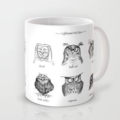 I might look like one of these owls right now. Love this! :: Caffeinated Owls by Dave Mottram