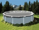 King solid winter cover for round above ground pool (Cover = round). 8 mil, silver on black triple laminated polyethylene with heat sealed seams for added strength. Pool Landscaping Plants, Above Ground Pool Landscaping, Swimming Pool Landscaping, Landscaping With Rocks, Landscaping Ideas, Oval Above Ground Pools, Above Ground Pool Cover, Above Ground Swimming Pools, In Ground Pools
