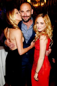 Paul Blackthorne, Katie Cassidy & Caity Lotz (Lance Family)