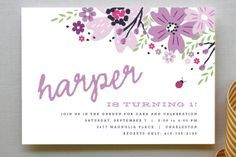 Garden Fete Children's Birthday Party Invitations by Kristie Kern at minted.com